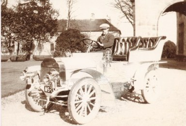 George S Orr in Argyll Car at kinnaird  1903-04